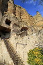 Cappadoccia turkey upscale lodging in with soft sandstone Stock Image