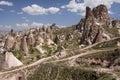 Cappadocia cave houses Royalty Free Stock Photo