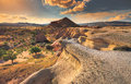 Cappadocia mountain landscape, Turkey Royalty Free Stock Photo