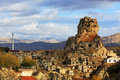 Cappadocia and rock formations in ortahisar anatolia Royalty Free Stock Photography