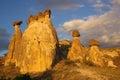 Cappadocia turkey in central anatolia at sunset Royalty Free Stock Photo