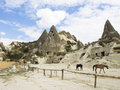 Cappadocia turkey nevsehir fairy chimneys Royalty Free Stock Photos