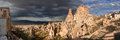 Cappadocia turkey panoramic photo this beautiful and fabulous word is the region in the central part of on the anatolian plateau Stock Images