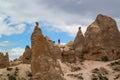 Cappadocia. Turkey. Stone columns Red Valley. Royalty Free Stock Photo
