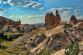 Cappadocia valley fantasies sandstone rock similar to camel in the turkey Stock Image