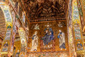 Cappella palatina sicily palermo italy june interior shot of the famous in on june in the palazzo reale in palermo in Stock Images