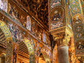 Cappella palatina sicily palermo italy june interior shot of the famous in on june in the palazzo reale in palermo in Royalty Free Stock Photo