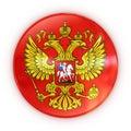 Cappotto delle braccia russo - distintivo Fotografia Stock Libera da Diritti