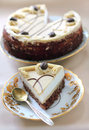 Cappuccino cake with chocolate biscuit and butter cream Stock Photography