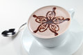 Cappuccino a cup of nicely decor Royalty Free Stock Photo