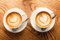 Cappuccino cups Royalty Free Stock Images