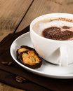 Cappuccino With Florentines Royalty Free Stock Images