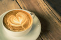 Cappuccino or latte coffee. Royalty Free Stock Photo