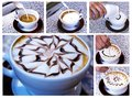 Cappuccino preparation Stock Photography