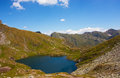 Capra lake in the fagaras mountains beautiful on a sunny day Stock Photography