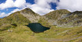 Capra lake in fagaras mountains romania Stock Image