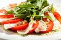 Caprese med rocket salad Fotografering för Bildbyråer
