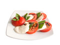 Caprese salad appetizer for healthy Stock Photos