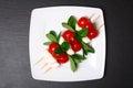 Caprese salad on sticks Royalty Free Stock Photo