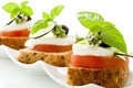 Caprese starter - Isolated Royalty Free Stock Image