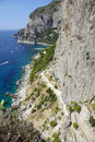Capri coastline - Italy Royalty Free Stock Photography