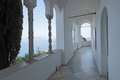 The Capri harbour seen from the Villa San Michele Royalty Free Stock Photo