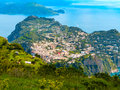 Capri island in a beautiful summer day Royalty Free Stock Photo