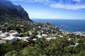 Capri island coast houses in the north of in italy Royalty Free Stock Image
