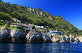 Capri island italy europe luxurious touristic destinationin Stock Image