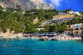 Capri island italy europe luxurious touristic destinationin Stock Photos