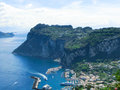 Capri island italy near naples is an in the tyrrhenian sea Royalty Free Stock Photo