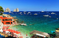 Capri island italy yachting at in europe Royalty Free Stock Image