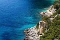 Capri island scenic view of rocky coastline italy Stock Photos