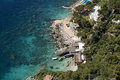 Capri island scenic view of rocky coastline italy Royalty Free Stock Image
