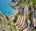 Capri Island Via Krupp Royalty Free Stock Photo