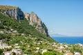 Capri italy europe island view of town Royalty Free Stock Photos
