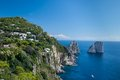 Capri italy seascape shot on the island of Stock Image