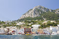 Capri italy view of marina grande the harbor of island one of the most touristic attractions near naples on july in Royalty Free Stock Photography