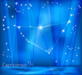 Capricon zodiac background capricorn bright stars in cosmos and sign Royalty Free Stock Photography