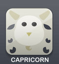 Capricorn zodiac icon vector illustration background Stock Photography