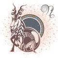 Capricorn. Zodiac sign Royalty Free Stock Photo