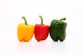 Capsicum capsicums on the white background Stock Image