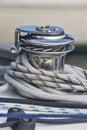 Capstan on a sailboat closeup Royalty Free Stock Photography