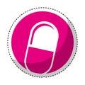 Capsule drug isolated icon Royalty Free Stock Photo