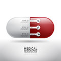 Capsule drugs infographic pharmacy medicine medical vector illustration can be used for infographics banners concept Stock Image