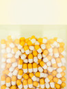 Capsules rolled in a glass container Royalty Free Stock Photo