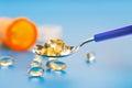Capsules  vitamin omega 3 Royalty Free Stock Image