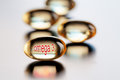 Capsules with vitamin omega Royalty Free Stock Photo