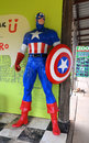 Captain america a model of the character from the movies and com Royalty Free Stock Images