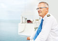 Captain on deck Royalty Free Stock Image